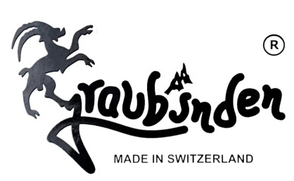 Graubünden Aufkleber 2D schwarz