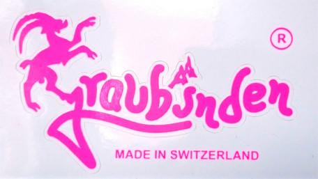 Graubünden Aufkleber 2D neonpink