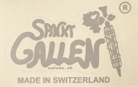St Gallen Aufkleber, transparenter Träger