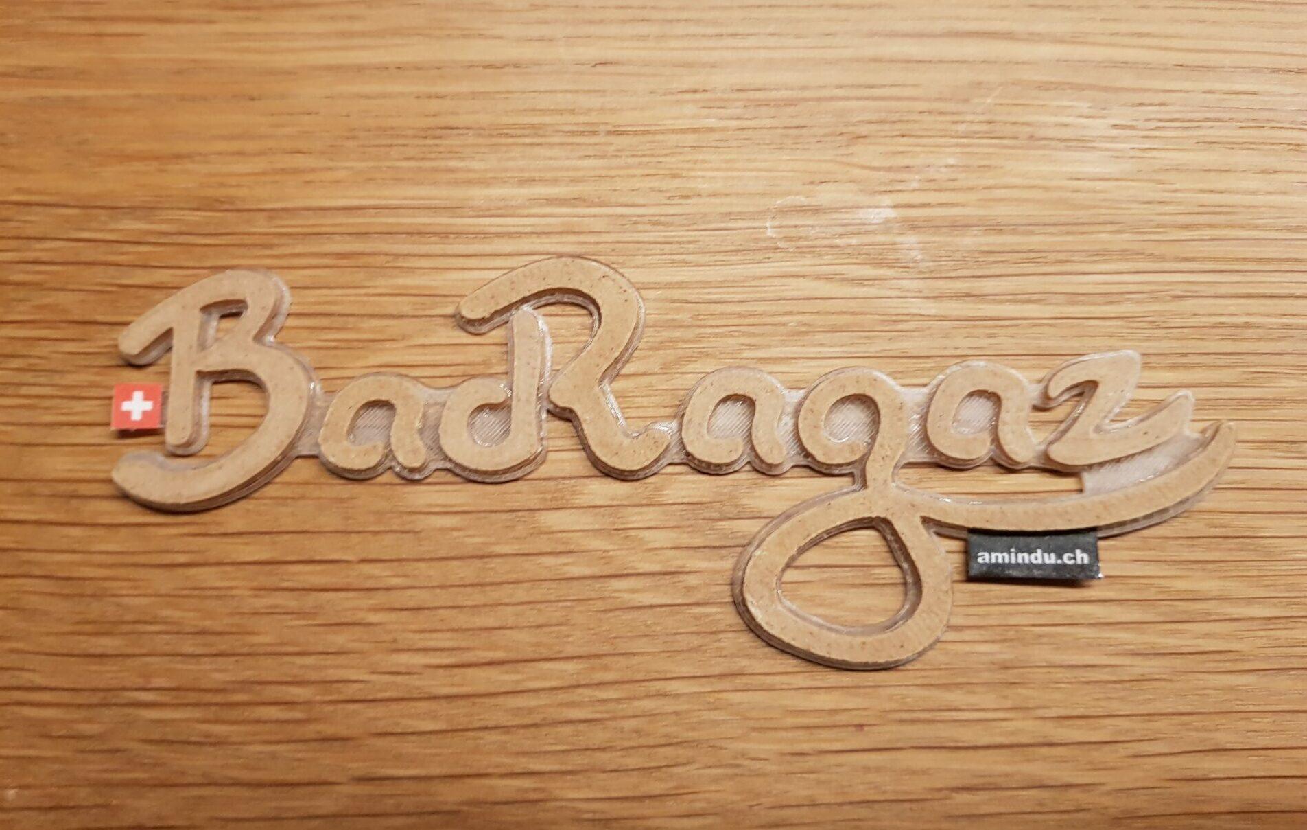 3D Aufkleber Bad Ragaz Holz