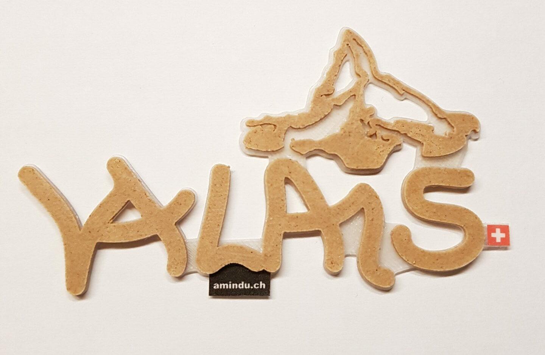 3D Aufkleber Valais Holz